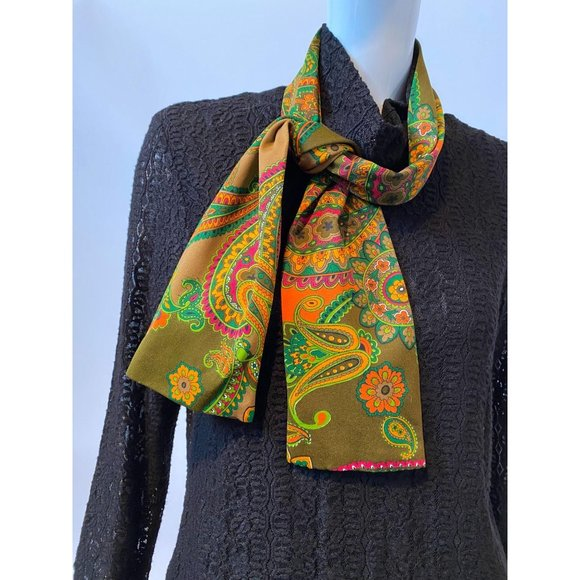 Vintage Orange Paisley Sash